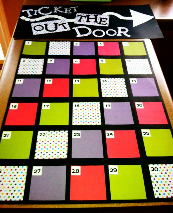 This generic exit slip board can be reused for rotary classes and from year to…
