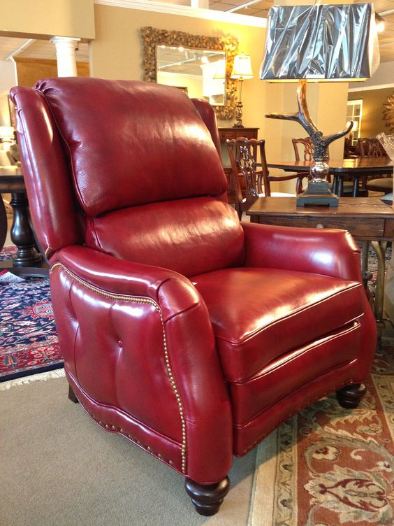 Leather Recliner by Hancock & Moore