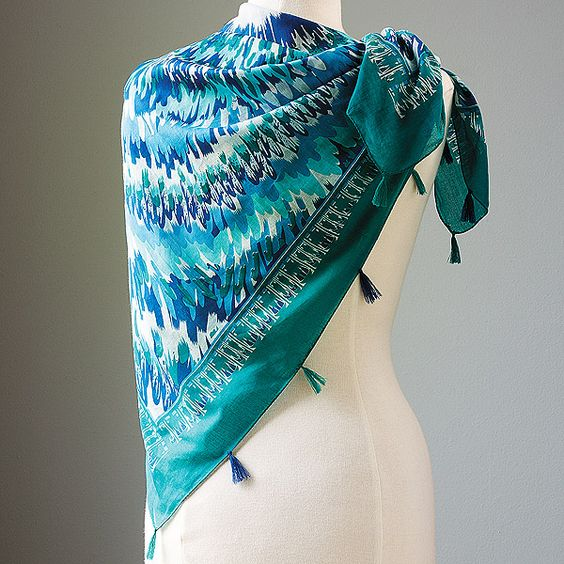 Tasseled Feather Scarf found in the Smithsonian Catalog, #fairtrade #worldfinds