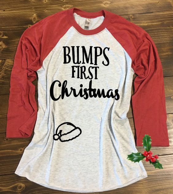 Bump's First Christmas Shirt. Pregnancy by strongconfidentYOU