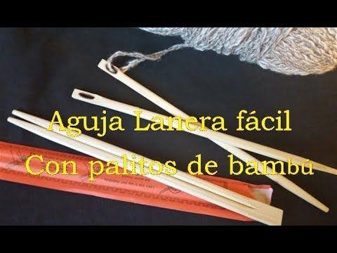 Aguja Para Lana Fácil Con Palos De Bambú En 3 Minutos Telar Bastidor Cuadrado Youtube Telas Tejer Con Los Dedos Agujas