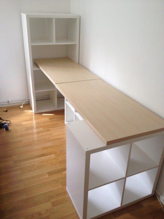 Kallax Desk Ideas Two Ways To Set Up A Workstation Ikea Hackers In 2020 Kallax Desk Desk Top Ideas Ikea Workstation