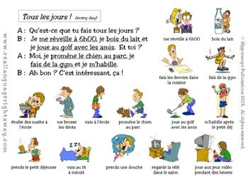daily routine in french example