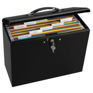"Locking Steel File Box - 6"" (15.24cm) x 13-1/2"" (34.29cm) x 10-1/2"" (26.67cm)-7148D at The Home Depot"