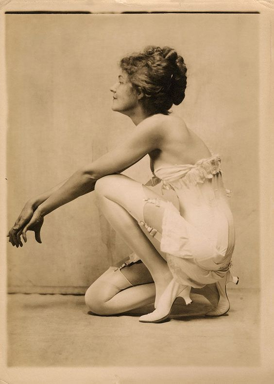 1920s Sexy Jazz Baby Original Photograph Charles Sheldon Lingerie Advertising NR