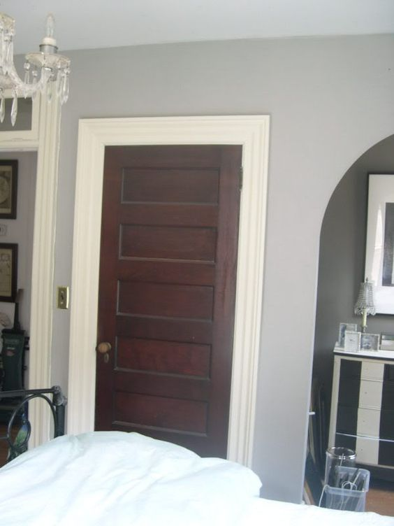 Love The White Trim With Dark Stained Doors I Want To
