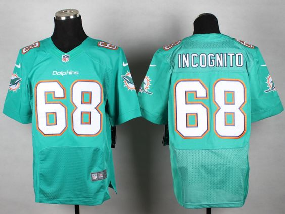 Miami Dolphins 68 Richie Incognito Green Elite jersey