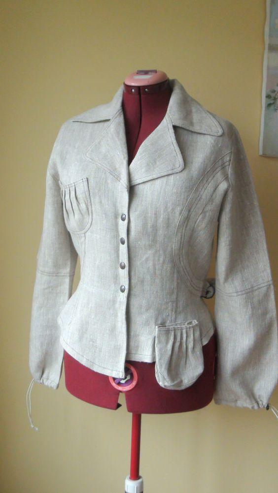 Graceful Linen Jacket  Eco friendly, size XL