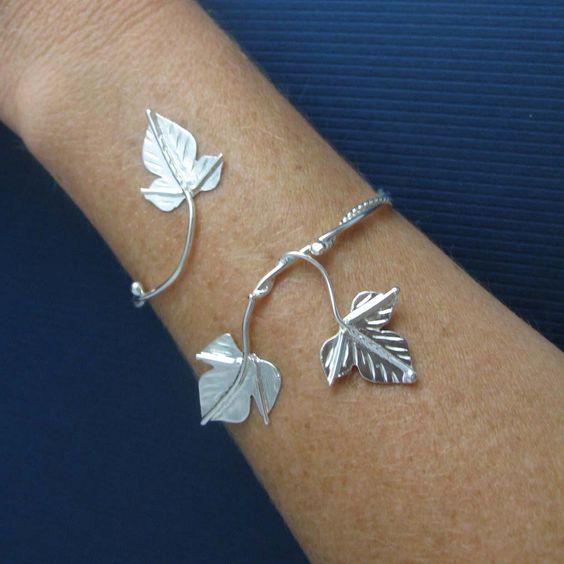 Silver Ivy Arm Brancelet