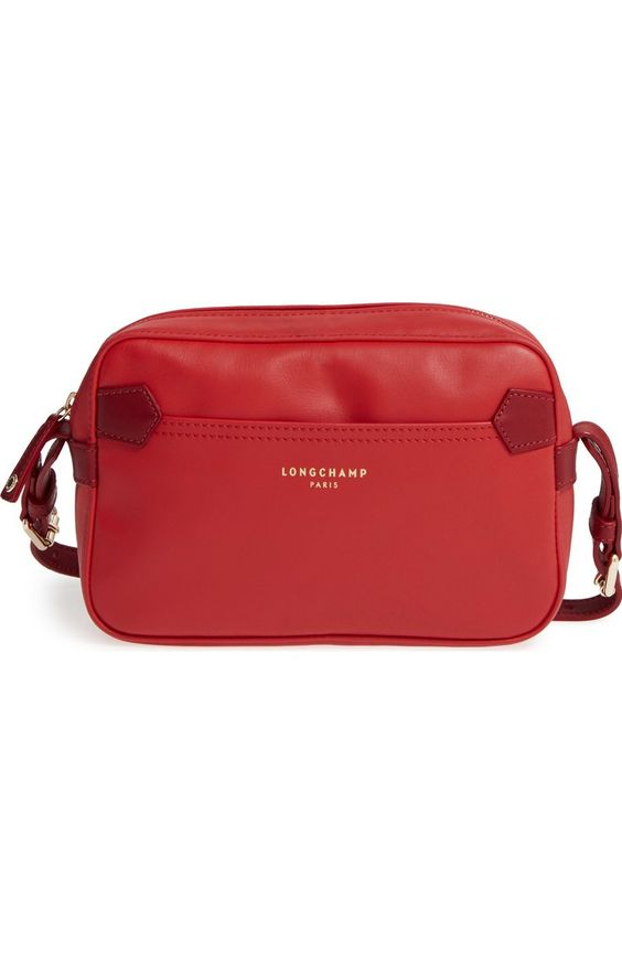 Longchamp 2.0 Two-Tone crossbody bag in Poppy/Ruby