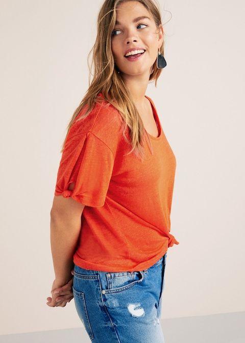 T-shirt lin nœuds