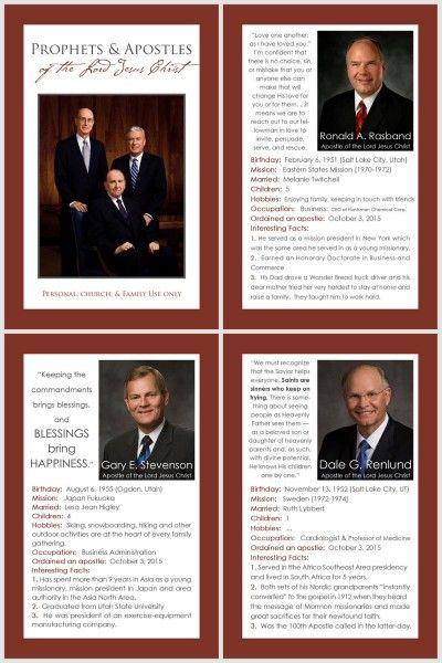 update to 4x6 Prophet & Apostles book with 3 new apostles...