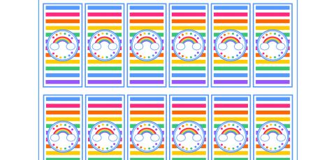 Free Rainbow Mini Candy Bar Wrappers
