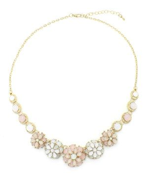 Look what I found on #zulily! Gold & Pink Mary Necklace by Eye Candy LA #zulilyfinds