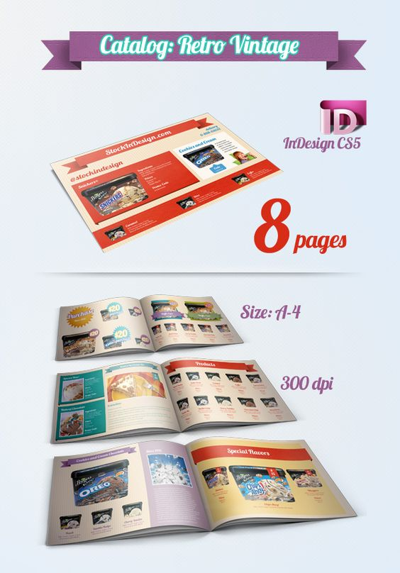 Infographic Tutorial infographic tutorial illustrator cs3 templates for flyers : Catalog Template – InDesign Freebie | Tutorials | Pinterest ...