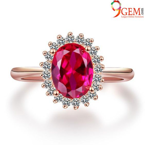 sterling silver engagement ring red gemstone ring ruby jewelry oval shape Ruby ring