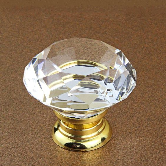 Gold Silver Glass Knobs Dresser Knobs Pulls Drawer Knobs Pulls ...