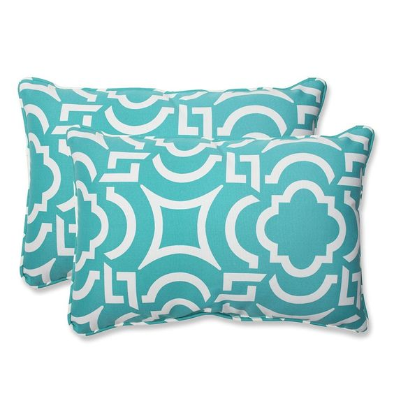 Carmody Peacock Over-sized Rectangular Throw Pillow (Set of 2)