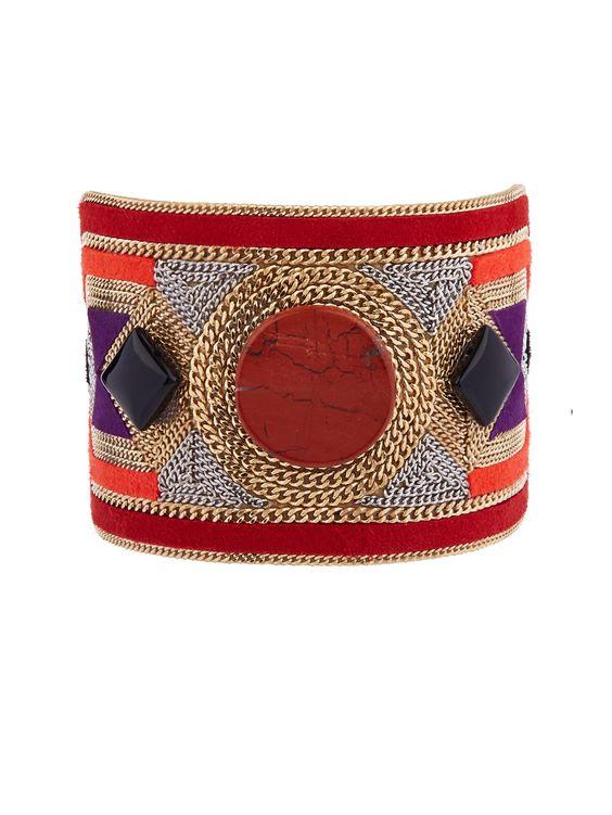 Bead-embellished suede cuff | Etro | MATCHESFASHION.COM UK