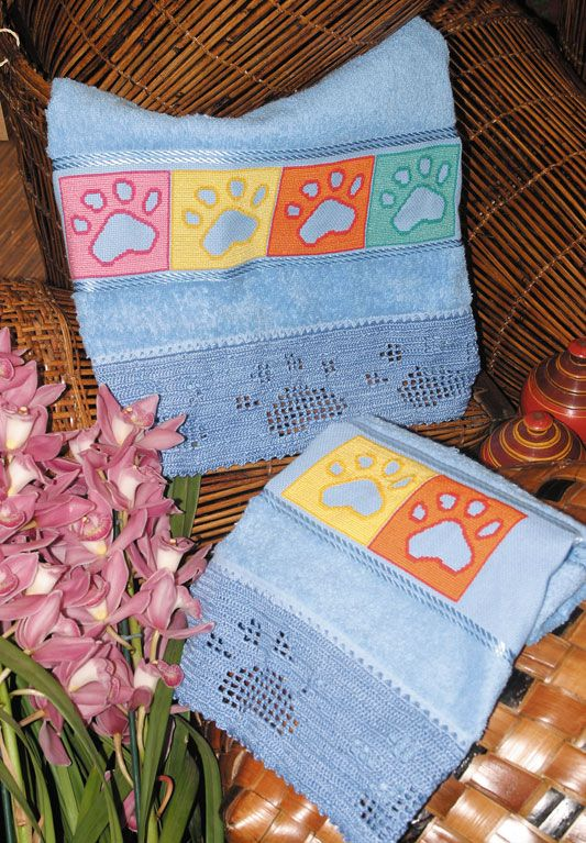Sandrinha Ponto Cruz: Barrados toalhas