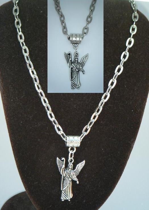 20 or 24 inch necklace archangel rafael pendant saint raphael 20 or 24 inch necklace archangel rafael pendant saint raphael angel rfl aloadofball Images