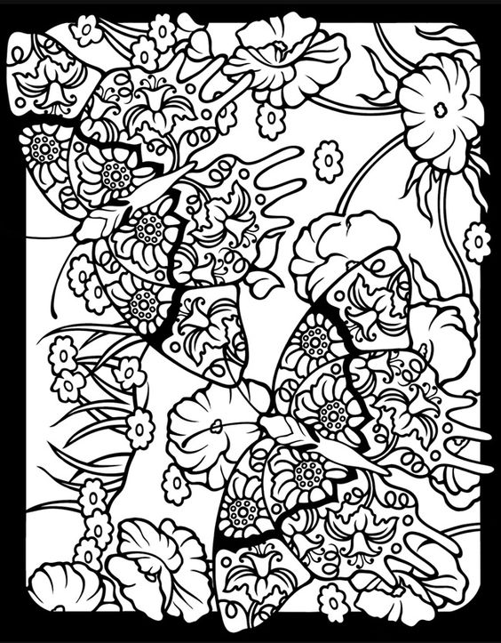 Fanciful Butterflies Stained Glass Coloring Book Dover Publications
