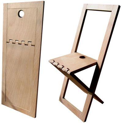 Chaise pliante. Épaisseur fermée 2,5 cm. Design Mathieu Camillieri  ¶¶ #toutoblog.unblog.fr aime ☺