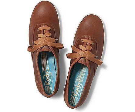 brown leather keds tennis shoes