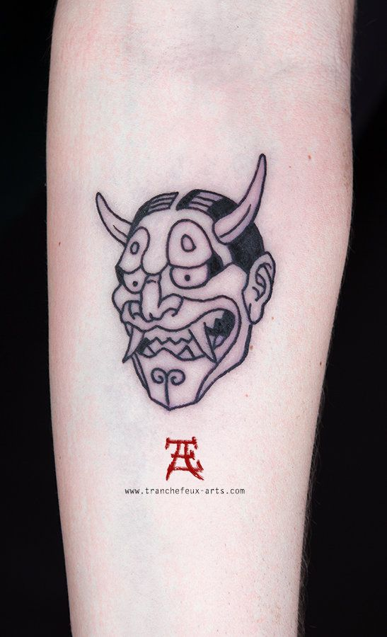 Tattoo Paris France Eric Tranchefeux Tatoueur Japanese Tattoo Demon Tattoo Mask Tattoo