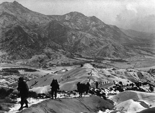 No place to fight a war: the dangerous mountains, hills and valleys of Korea.