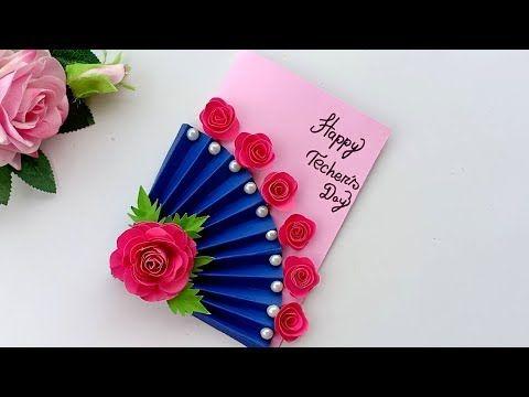 Diy Teacher S Day Card Handmade Teachers Day Card Making Idea Youtube Teachers Diy Teachers Day Card Teacher Cards