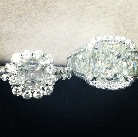 #cushioncut #diamond #engagementrings on #hydeparkjewelers #instagram