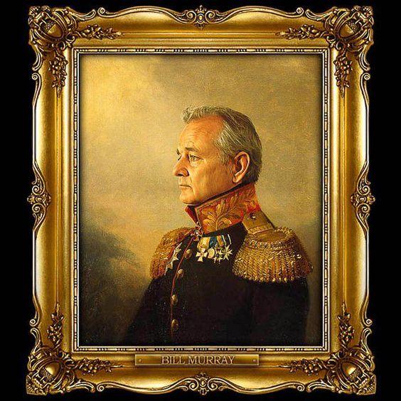#Bill #Muray #portrait #paint #empire #painting #art #peinture #cinéma #actor #acteur #movie
