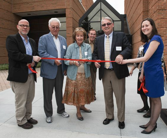 Ribbon cutting with Geoffe Haney - Carl Fredericks - Sue Vititoe - Donald Bachand - Melissa Ford