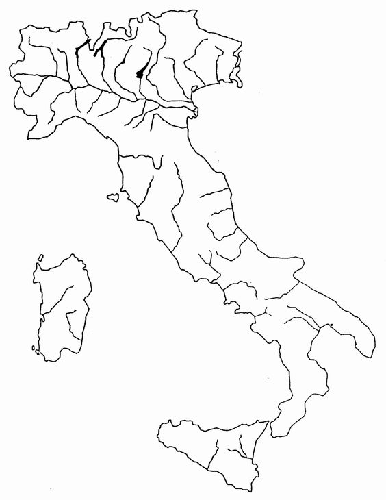 Cartina Muta Fiumi Italia Tomveelers