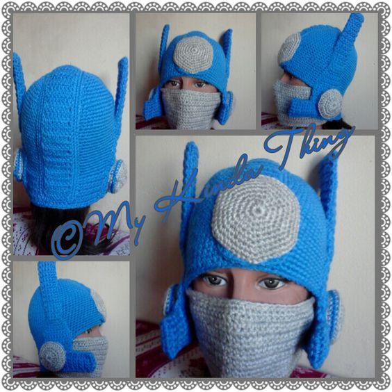 Crochet Pattern For Optimus Prime Hat : My crochet optimus prime hat! Crochet hats and headbands ...