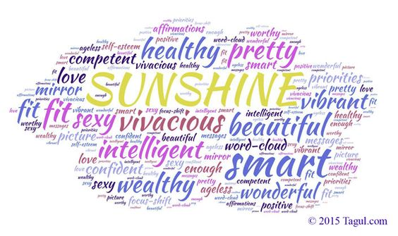 Make Sure There Is Sunshine in Your Word Cloud