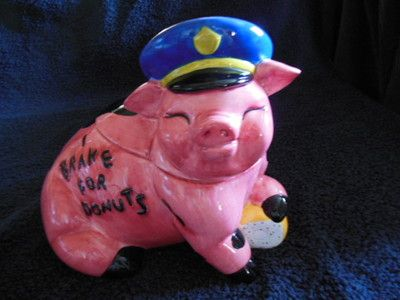 Enesco Cop pig cookie jar