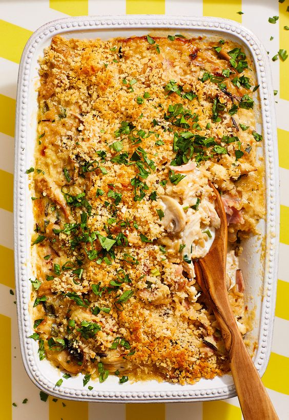 Chicken Cordon Bleu Wild Rice Casserole
