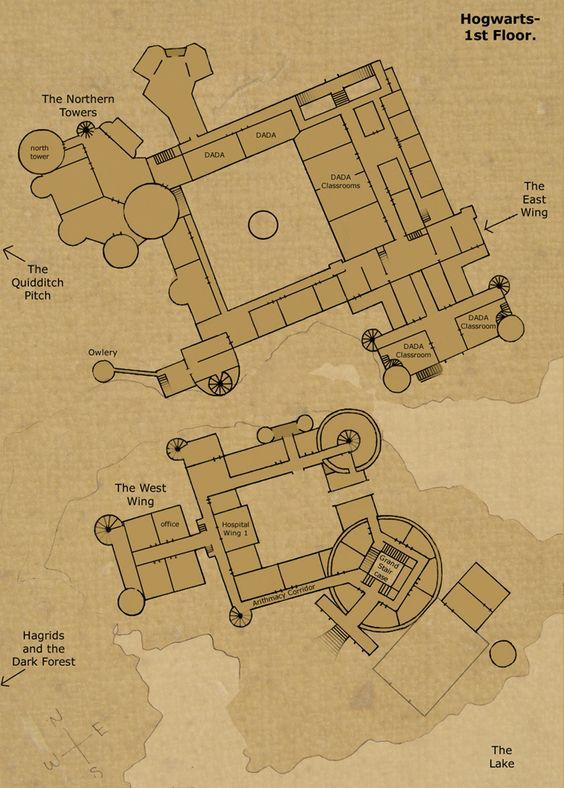 Hogwarts castle 1st floor camelot references pinterest for Floor plan database