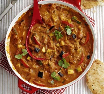 This vegetarian curry is great for feeding a group of mates on a budget, or make a batch to freeze