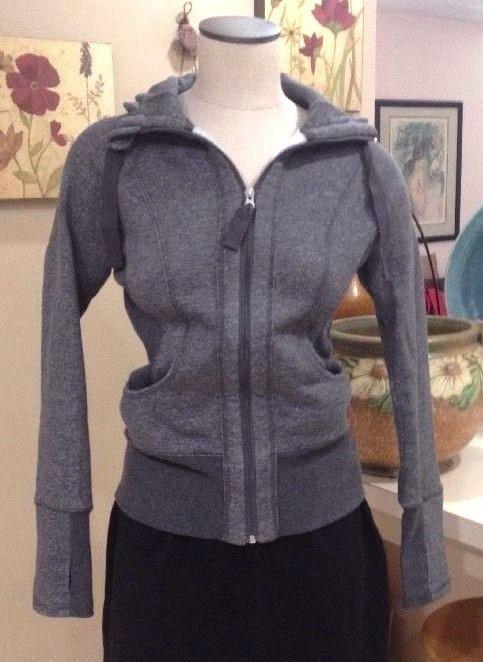 Active Life 90 Degree by Reflex Fleece Full Zip Hoodie Charcoal Gray Sz S NWOT…