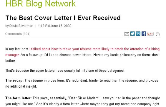 Best Cover Letters Ever