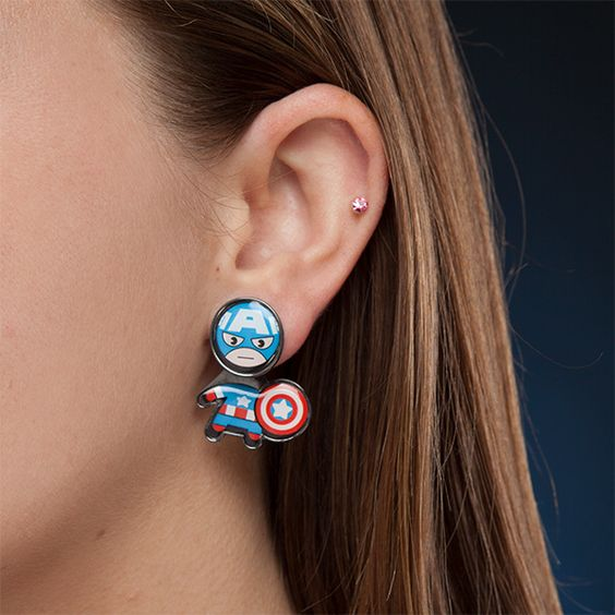 Marvel Civil War Kawaii Earring Set - Limited Edition
