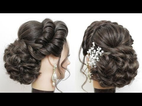 New Bridal Hairstyle For Girls With Long Hair Messy Bun Updo Youtube Long Hair Styles Easy Updo Hairstyles Messy Hairstyles