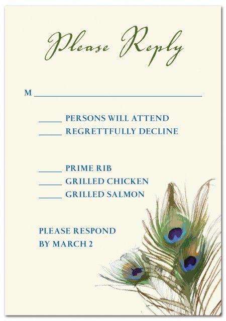 Peacock invite..