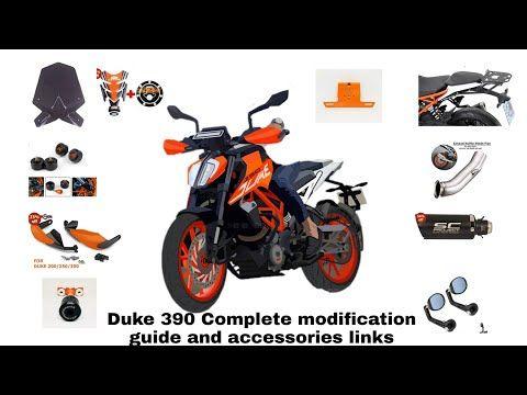 Ktm Duke 390 Complete Modification Guide And Accessories Links Youtube Ktm Duke Ktm Custom Cafe Racer