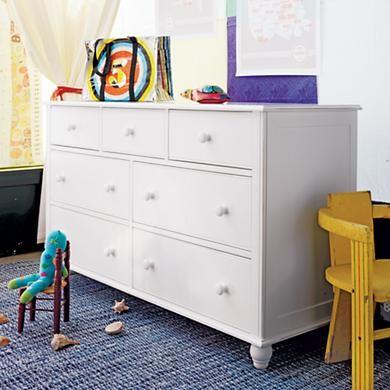 Kids' Dressers: Kids 7-Drawer White Jenny Lind Dresser in Dressers: Jenny Lind, Kids Dressers, Winter12 Nodwishlistsweeps, Dressers Kids, Drawer Jenny, Baby Room, Nod Nodwishlistsweeps, Drawer White