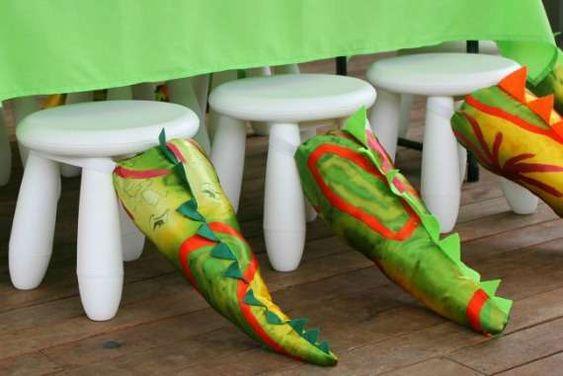 Dinosaur Birthday Party Tail Favors | CatchMyParty.com