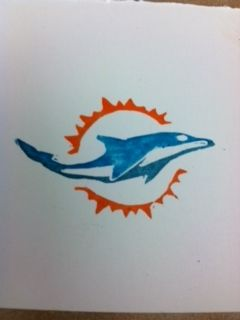 Dolphins logo carved with the Undefined carving kit